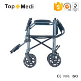 Topmedi Aluminum Lightweight Folding Portable Travel Manual Wheelchair come Luggage