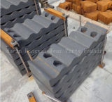 Placa de los dientes de la quijada para la máquina de la trituradora de los cortacircuítos de piedra