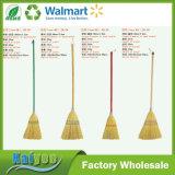 Pasta de bambú de hierba de oro con diferentes colores Manija de madera larga