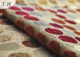 Tela del sofá del telar jacquar del Chenille con los puntos lindos coloridos (FTH31024)