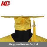 Chapeau de graduation de lycée avec de l'or brillant adulte de gland