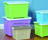 Position transparente en plastique personnalisée de conteneur avec des couvercles