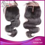 100%の加工されていないバージンボディ波の絹の閉鎖の人間の毛髪