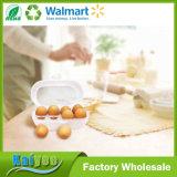 Suporte transparente do armazenamento do ovo da cozinha do agregado familiar com tampa