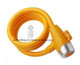 Bester Preis-Fahrrad-Spirale-Kabel-Verschluss mit Schlüsseln (HLK-016)