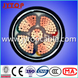 PVC絶縁され、PVCによっておおわれる電源コード4X95+50mm