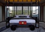 파이브 스타 웅대한 Hyatt 휴양지 호텔을%s 주문 오크 단단한 나무 닫집 침대 가구