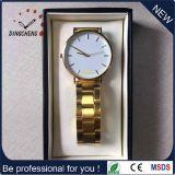 Vigilanza su ordinazione del quarzo dell'acciaio inossidabile dell'orologio di Dw del fronte della fabbrica della Cina per gli uomini