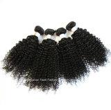 Da extensão brasileira humana do cabelo do Virgin cabelo de trama do europeu do cabelo