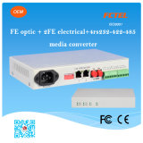 4 Port Serial Data Media Converter (4 RS232 RS422 RS485를 가진 2port 매체 변환기)를 가진 Otical 2fe Electrical 100m Fe