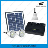 4W 8W Solar Home Lighting System mit 1W 2W Bulbs