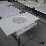 Controsoffitto bianco della cucina della pietra del quarzo di uso di progetto