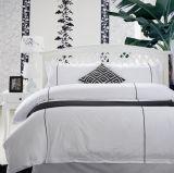100%年の綿の明白で白いホテルの寝具セット