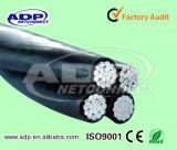 Câble d'Al d'ABC de fil de pouvoir de service de Douplex /Triple /Quadruplex