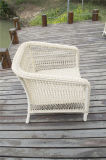 Solas sillas de mimbre redondas al aire libre del brazo