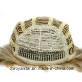 Parrucca capa mezza dei capelli 3/4 dorato riccio lungo lanuginoso di modo