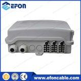 Cadre noir blanc d'achêvement de fibre optique de faisceau de Fdb FTTH 24 avec le presse-étoupe (FDB-024A)