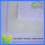 Venda natural dobro pequena impermeável do protetor do colchão de 100%