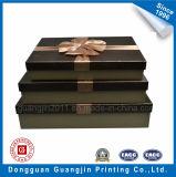 Выбитая роскошью бумажная твердая коробка подарка картона