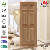 Jhk-006 peau chinoise de porte de teck de salle de bains de panneaux de la qualité six