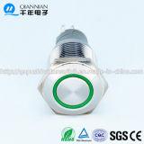 Qn16 C1-verde Anillo 12V LED interruptor de botón pulsador