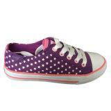 Der gute gedruckte Preis-bunte kundenspezifische weiße Stern scherzt Segeltuch-Schuhe
