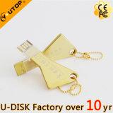 Горячий продавая привод вспышки USB золотистого ключа (YT-3213-04L)