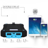 Ipx6는 2 지능적인 전화를 위한 LED Sos를 가진 USB 8000mAh 태양 에너지 은행을 방수 처리한다