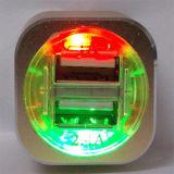 Il caricatore promozionale 5V 2.1A 1A dell'automobile del telefono del regalo si raddoppia caricatore dell'automobile del USB con il LED