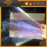 紫色のカメレオンのWindowsの太陽フィルムに対して透過