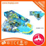 Le thème vilain de château de parc à thème d'océan badine le labyrinthe d'intérieur de cour de jeu