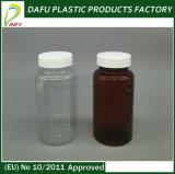 Bouteille ambre en plastique de médecine de l'animal familier 200ml