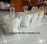 2016 velas de cristal transparentes elegantes vendedoras calientes del tarro sospechadas
