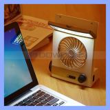 3 in 1 Multi-Function Portable Mini Fan LED Table Lamp Flashlight Solar Fan für Home Camping