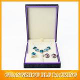 Caliente estampado de joyería blanca caja de regalo de madera (BLF-GB049)