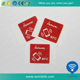 Etiqueta programável personalizada da reescrita 13.56MHz Ntag213 NFC da impressão