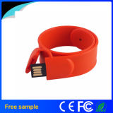 Free Customized Logo Bracelet Silicone Wristband USB Stick
