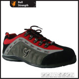 Ботинок безопасности тренера замши кожаный с цементированным резиновый Outsole (SN1305)