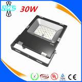 LED 가벼운 IP65 까만 SMD LED 플러드 빛 30W