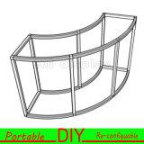 Cabine modular reusável da exposição de DIY Versatile&Portable para o carrinho da mostra do indicador