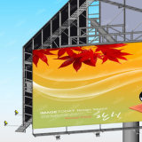 Panneau-réclame de publicité en acier Three-Sided d'Unipole de route