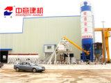Hzs 25 concreto estacionário de 35 50 60 M3/H que trata/planta de mistura com o misturador de Sicoma para a construção