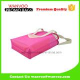 Freizeit Rosa gedruckte Belüftung-Ineinander greifen-Schule-Schultertote-Einkaufstasche für Dame und Frauen