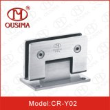 샤워실 유리제 문 (CR-Y02)를 위한 90 도 스테인리스 샤워 유리제 경첩