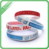 Wristbands all'ingrosso del silicone della fabbrica con il marchio su ordinazione per il punto di promozione