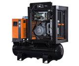 最もよい価格タンクおよびドライヤー10HP 39cfm 8barが付いている無声結合されたねじ空気圧縮機
