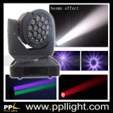 Lens Rotating 19PCS * 15W RGBW 4in1 LED Zoom Beam Moving Head Light