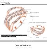 최신 디자인 CZ는 둥글게 된다 여자 (CRI1021)를 위한 다이아몬드 주문 반지를