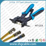 La professione Concentrazione-Salva lo strumento di compressione del cavo coassiale Rg59 RG6 Rg11