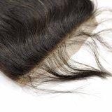 Brasilianische Jungfrau-Haar-Hand gebundenes frei zerteiltes Spitze-Schliessen